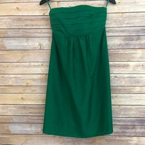 Banana Republic Emerald Green Strapless Dress